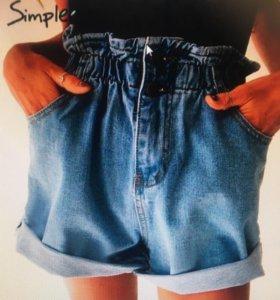 Новые джинсовые шорты 48-50 р.