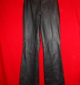 Кожаные брюки-клеш Leder