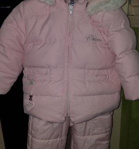Зимний комбинезон и куртка chicco