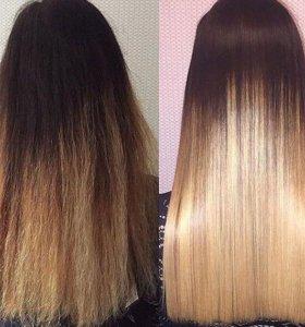 Кератин.выпрямление волос