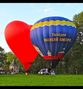 Полёты на воздушном шаре в Великом Новгороде