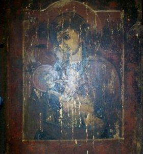 Икона Владимирская Утоли мои печали дерево 19 век
