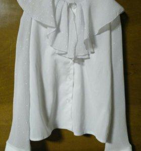Блузка белая нарядная рост 128
