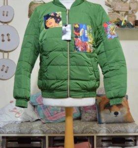 Новая куртка- бомбер, 44 размер