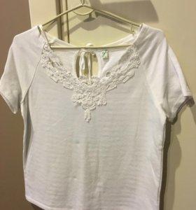 Блуза/ футболка /кружево