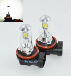 Лампочки светодиодные в противотуманки H8, H11.