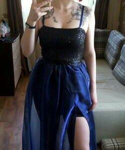 Платье трансформер со съемной юбкой