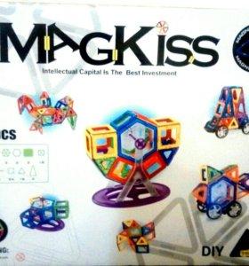 Магнитный конструктор новый Magkiss 78 деталей