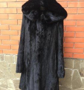 Норковая шуба чёрная Saga furs royal