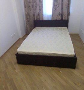 Новая!! Кровать 140*200 с матрасом