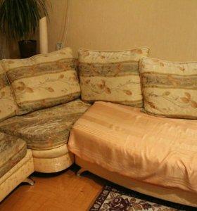 Угловой раздвижной диван