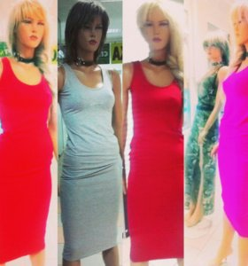 Платья маечного стиля