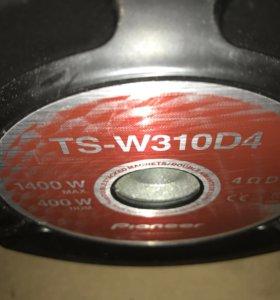 "Сабвуфер 2x Pioner ts-w310d4 12""(30см)"