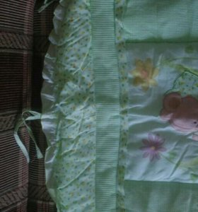 Бортики в кроватку, балдахин