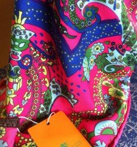 Etro новый платок шелк твил 80/80 см