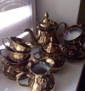 Сервиз чайный золото