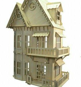 Конструктор кукольный домик + 6 комнат (новый)