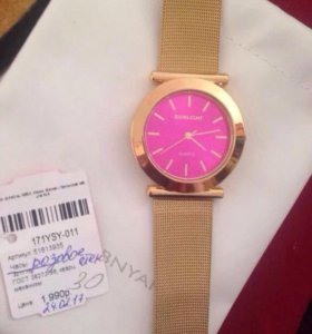 Новые часы под золото