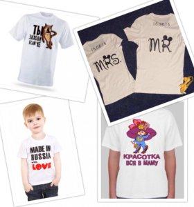 Изготавливаем футболки с надписями
