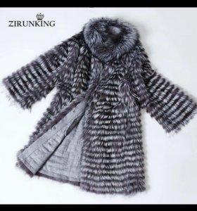 Пальто Чернобурка на кашемире