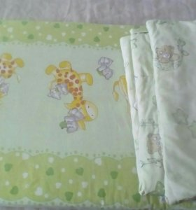 Матрас,подушка с одеялом в детскую кроватку