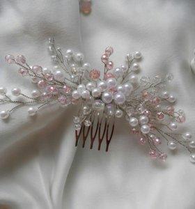 Гребень для волос. Свадебное украшение