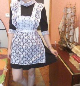 Школьная форма. Платье+фартук