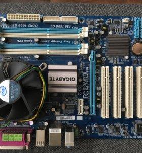 Материнка с хорошим двухъядерным процессором!
