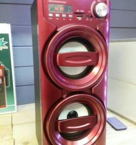 Портативная акустика блютуз флешки радио