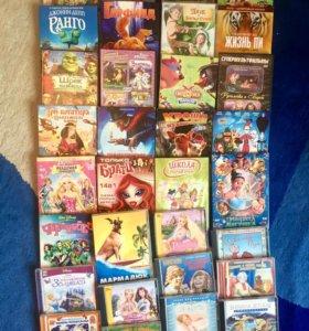 Детские DVD диски, сказки,мультфильмы, песни