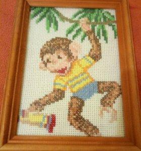 Картина обезьяна