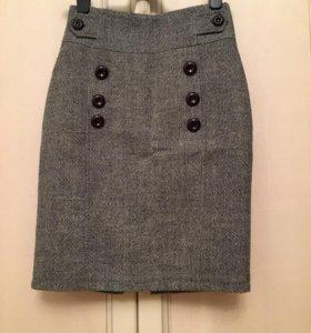 Женская шерстяная юбка