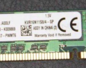 Оперативная память ddr3 dimm 4gb Kvr16n11s8