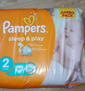 Pampers sleep&play 2 (3-6 кг) 88 шт