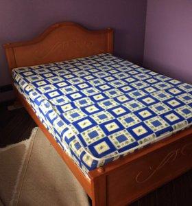 Кровать с матрасом 140х190