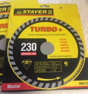 Сегментированный отрезной диск stayer turbo+