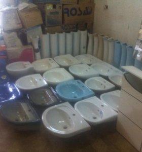 Раковины, мебель для ванной комнаты