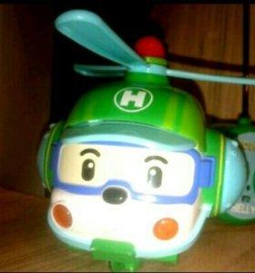 Робокар Поли на радиоуправлении Хэли вертолёт