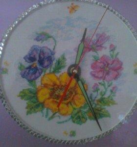 Часы вышивка крестиком