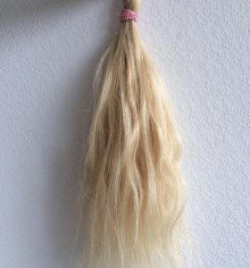 Волосы натуральные блонд 40 см