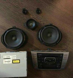 Штатная аудио система марки BOSE для Мазда 6
