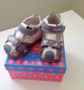 Детские летние туфли ясельные, размер 19