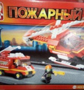 Конструктор,пожарный,новый