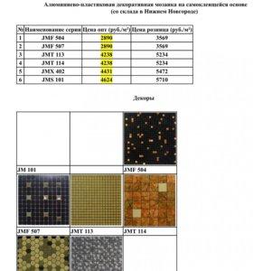 Продается алюминиевая декоративная мозаика