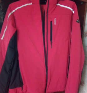 Новый Горнолыжн.костюм ярко-красный+черные вставки
