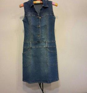 S 42 44  платье джинсовое новое