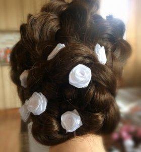 """Праздничные шпильки для волос """"Розы"""". Ручная раб."""