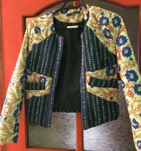 Разноцветная куртка-жакет