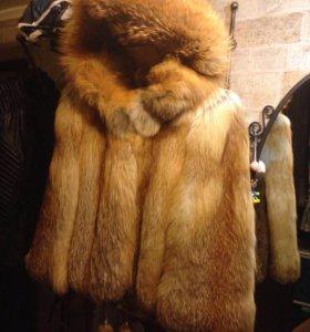 Шуба из меха лисы