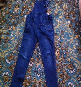 Комбинизон джинсовый для беременных. Р-р 42